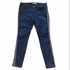 Navy Jeans with Red Stripe- Skinny